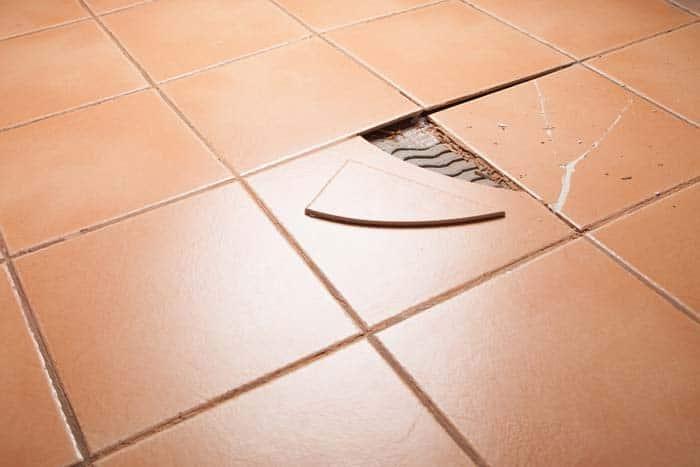 damaged tiles chipped tiles